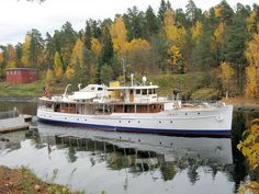 120-foot classic motoryacht in Norway.  From her website.