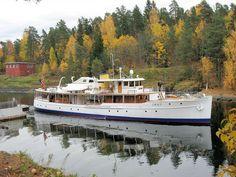 120-foot classic motoryacht in Norway. From her website.