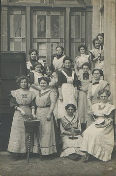 House Maids - (edwardian era, vintage lady, old photo, honorable workers, aprons)
