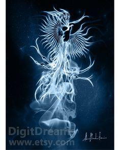 Phoenix, Albus Dumbledore #Patronus Harry Potter gift present artwork by DigitDreams