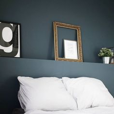 Kleur voor slaapkamer? Schorpioen Small Room Bedroom, Dream Bedroom, Home Bedroom, Master Bedroom, Bedroom Decor, Interior Paint Colors For Living Room, Simple Bedroom Design, Blue Rooms, Love Home