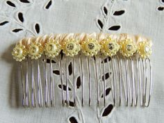 Hair Clip ( made with vintage button trim) www.etsy.com/mabelfirefly