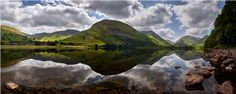 Brothers Water Mirror Panorama – Canvas Print
