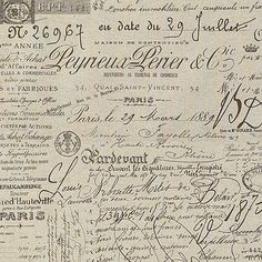 French Script Fabric from Victoria Grayson's chair on Revenge