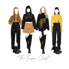 Band Outfits, Rock Outfits, Kpop Fashion Outfits, Stage Outfits, Cute Fashion, 90s Fashion, Korean Fashion, Girl Outfits, Retro Outfits