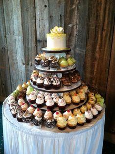 Bethel Bakery Wedding Gourmet Cupcake Display