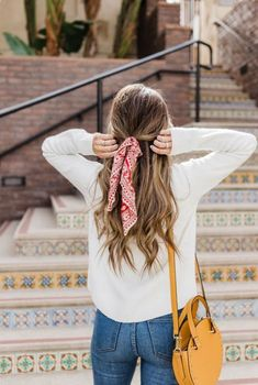 Tie a bandana in your hair for an easy summer western look.