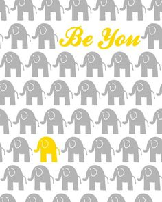 Yellow and Grey Nursery Decor Elephant Theme