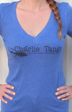 Fifty shades of Grey Inspired Charlie Tango T-Shirt