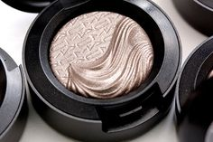 MAC Silver Dawn Extra Dimension Eye Shadow, a dirty grey mauve with a metallic finish, December 2013