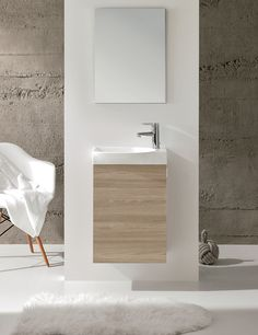 If you want more space in your bathroom, a floating vanity can help. It visually expands your room by extending the view to under the vanity