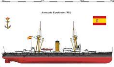 Perfiles navales. Acorazado ESPAÑA,en 1913