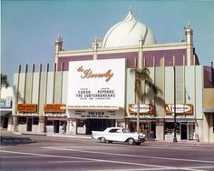 The Beverly Theatre, located on the northeast corner of Beverly Drive and Wilshire, photographed by Marc Wanamaker via the Beverly Hills Historical Society  (1960)