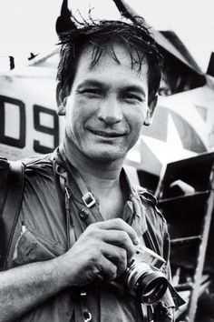 Henri Huet (1927-1971) French war photographer, who covered the Vietnam War for Associated Press (AP). Born in Vietnam to a French father and Vietnamese mother, he was educated in France and returned to Vietnam in 1949 as a combat photographer. His most memorable series featured a wounded medic, tending fellow soldiers in 1966. Killed when his helicopter was shot down over Laos. portrait by Michael Putzel