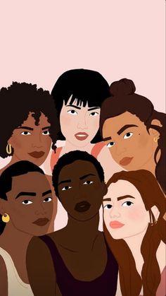 Cleste Wallaert s illustrations for Tapage – girl power tattoo Black Girl Art, Black Art, Art Girl, Girl Power Tattoo, Girl Tattoos, Power Girl, Hand Tattoos, Sleeve Tattoos, Woman Illustration