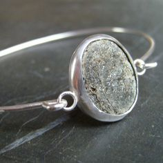 Who needs precious stones...I <3 this Pebble Bangle from Fyne Silver on Loch Fyne
