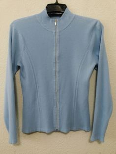 EP Pro - Women's Golf Sweater - Size Large - Blue Long Sleeve - Ribbed Knit - Zip Up Front #EPPro #GolfSweater ..... Visit all of our online locations.....  www.stores.eBay.com/variety-on-a-budget .....  www.amazon.com/shops/Variety-on-a-Budget .....  www.etsy.com/shop/VarietyonaBudget .....  www.bonanza.com/booths/VarietyonaBudget .....  www.facebook.com/VarietyonaBudgetOnlineShopping
