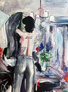 """Saturday"" / Acrylic, graphic, canvas / 40 x 30 cm / lentov | 2020 / #españa #barcelona #fashion #girl #tattoo #illustration #fashionillustration #trends #sabado #weekend #abstract #art Graphic Design Projects, Barcelona, Illustration, Artwork, Painting, Work Of Art, Auguste Rodin Artwork, Painting Art, Barcelona Spain"