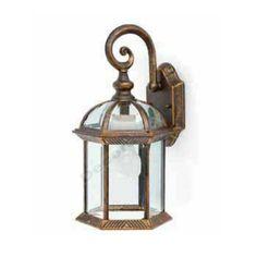 Lámpara aplique exteriores jardines estilo clásico color oro