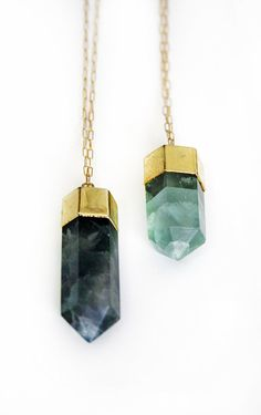 FLOURITE crystal point necklace