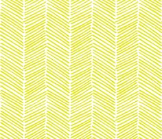 Freeform Arrows Large in citron fabric by domesticate on Spoonflower - custom fabric