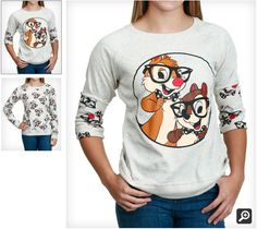 Womens Chip N Dale Reversible Pullover