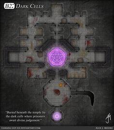 Underground cells & temple. (Dark Cells by Canada-Guy-Eh.deviantart.com)