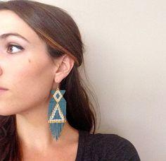 Bluish Grey Earrings by wildmintjewelry on Etsy, $90.00