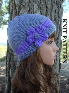 PATTERN 5:  The Alexa Knit Hat  Pattern includes by IKnit4aCure