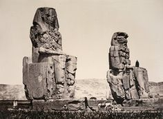 Statue of the Plain, Thebes, 1857.   Like Linnaeus Tripe, Francis Frith journeyed to far-flung countries to document their wonders for the first time photographically, including these enormous statues in Egypt.