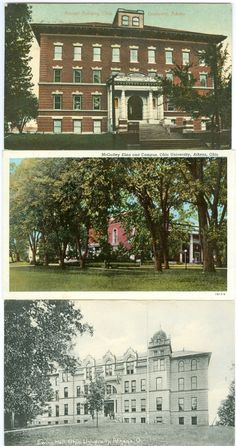 Athens OH The McGuffey Elms & Campus, Ewing Hall & The Normal Building, Ohio U | eBay
