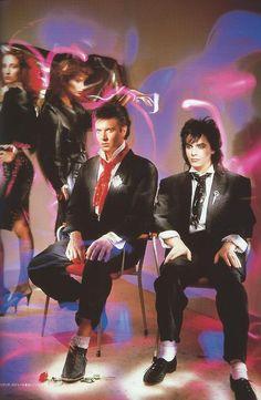 Simon and Nick - photo shoot for Arcadia - 1985