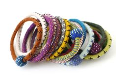 Shelley Jones' felt bangles, ropes and spikes