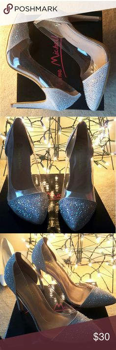 Silver Diamond Pointed Toe Heels They were perfect for homecoming like yass omg. Worn once. Very good condition. Heel height 4.5-5. Shoes Heels