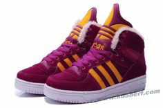 Adidas X Jeremy Scott Big Tongue Anti Fur Winter Shoes Dark Red For Sale