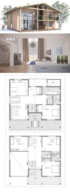 Plan de petite maison   wwwm-habitatfr/travaux-de-gros-oeuvre - plan de maison rectangulaire plain pied