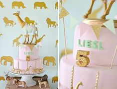 Safari Themed Birthday Cake - Project Nursery