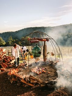 Francis Mallmann, the man who stoked Gwyneth's wedding BBQ, is accustomed to feeding the rich and famous with food from the fire Francis Mallman, Barbeque Design, Rustic Outdoor Spaces, Asado Grill, Open Fire Cooking, Real Fire, Wild Fire, Into The Fire, Open Fires