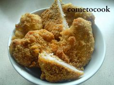 Come to cook: Κοτόπουλο πανέ στο φούρνο Onion Rings, Meat, Chicken, Cooking, Ethnic Recipes, Food, Beef, Meal, Kochen