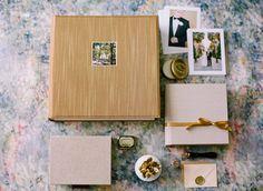 Queensberry Wedding Album | Rose Gold Silk Cover on a Classic Matted Album - www.queensberry.com | Buffy Dekmar Photography - www.buffydekmar.com/