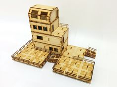 A review of the Base-0 Habitat Units 1 and 2 from Systema Gaming, laser-cut MDF terrain kits compatible with wargames such as Warhammer 40k and Infinity.