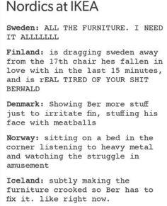 Hetalia - Nordics at IKEA❤