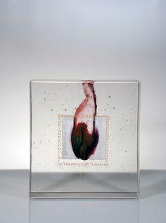"""Antoine Leperlier Flue et Fixe -XXXXIII, 2013 12.5 x 12.5 x 3.5"""" Pate de verre Available"""