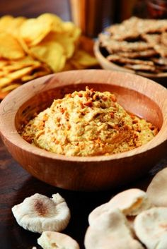 Peanut butter hummus. It's utterly delish!
