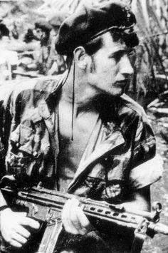 Portuguese Marine (Fuzileiros) with G3 gun - African Colonial War 1961/74