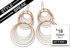 STYLE BREAK! Get the Winona Earrings for $18. Today only!