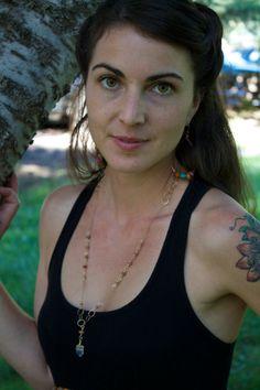 Long Boho Crystal  and Gemstone Necklace by SeleneJoyDesigns