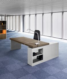 Modern designed MD Tables, Director Tables and Manager Tables. Modern Home Office Furniture, Executive Office Furniture, Modern Office Design, Office Interior Design, Office Interiors, Office Desk, Desk Layout, Furniture Design, Future Office