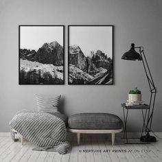 Minimalist Art Mountain Print Modern Art Print Nordic Art
