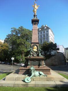 Vienna; Austria; 1010, Denkmal; Johann Andreas von Liebenberg; Universitätsring
